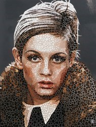 Twiggy II by Paul Normansell - High Gloss Enamel Paint on Aluminium sized 24x32 inches. Available from Whitewall Galleries